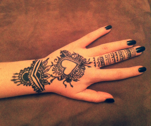 heart, henna, and nails image