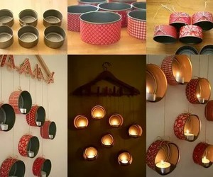 diy, candle, and decoration image