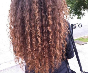 curls, hairstyle, and curly hair image