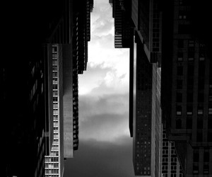 black and white, builds, and cities image