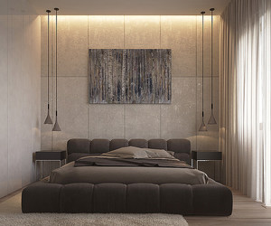 apartment, bedroom, and contemporary image