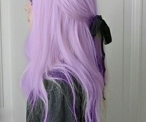 hair, purple, and pastel image
