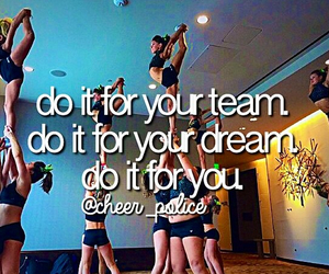 cheer, passion, and quotes image
