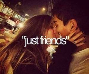 love, kiss, and friends image