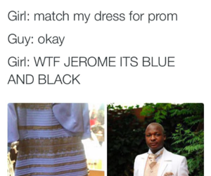 blue and black, dress, and funny image
