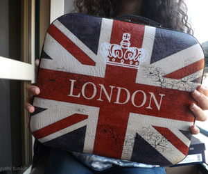 girl, london, and union jack image