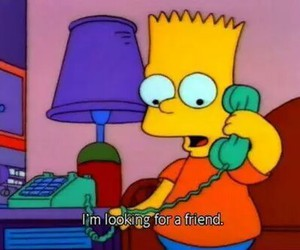 friends, bart, and simpsons image