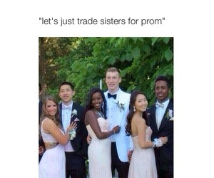 funny, Prom, and sisters image