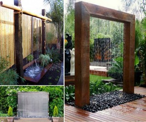 diy, home, and water wall image