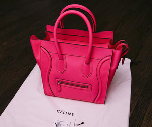 bag, pink, and celine image