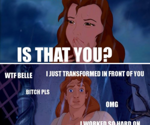 funny, disney, and beauty and the beast image