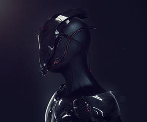 alien, digital art, and cyberpunk image