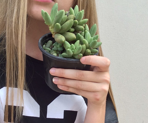 girl, plants, and blonde image