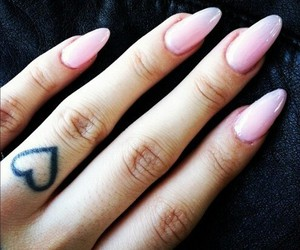 nails, tattoo, and heart image