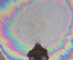 grunge and oil spill image