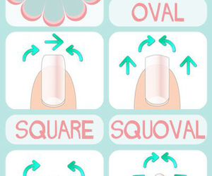 nails, pretty, and shapes image