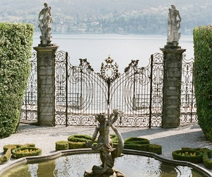 garden, italy, and fountain image