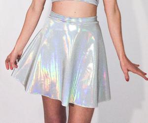 skirt, fashion, and holographic image