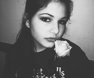 b&w, chic, and eyes image
