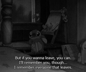 sad, quotes, and stitch image