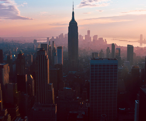city, new york, and sky image