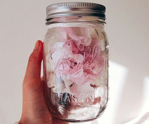 flowers, jar, and pretty image