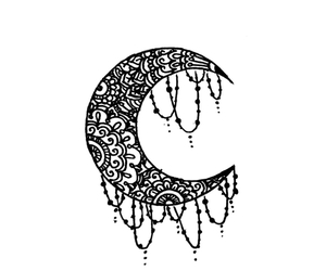 moon, art, and hippie image