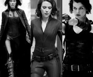 Avengers, black widow, and blackandwhite image