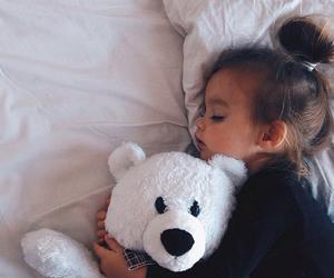 cute, baby, and sleep image