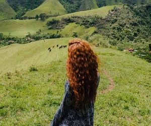green, nature, and hair image