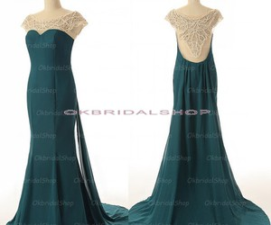 long prom dress, elegant prom dress, and backless prom dress image