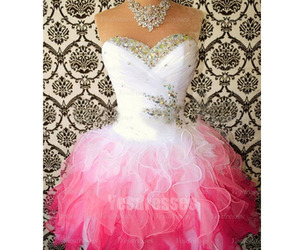 party dress, pretty prom dress, and pink prom dress image