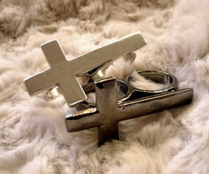 cross, funny, and silver image