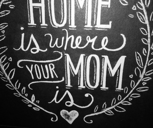 home, mom, and love image