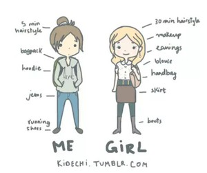 girl, me, and true image