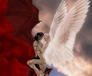 demon, forbidden, and angel image