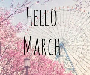 march, spring, and pink image
