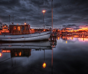 boat, hdr, and photo image