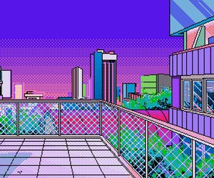 pixel, city, and art image