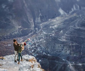 love, couple, and mountains image