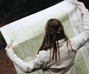 adventure, map, and photography image