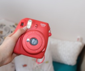 instax, pink, and polaroid image