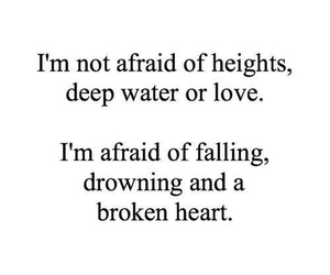 love, afraid, and falling image