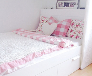 bed, girly, and room image