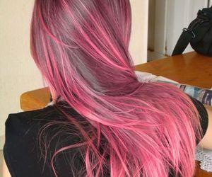 highlights, long, and pink hair image