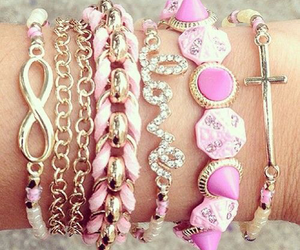 pink, bracelet, and jewelry image