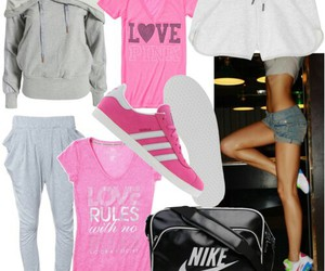 adidas, nike, and outfit image