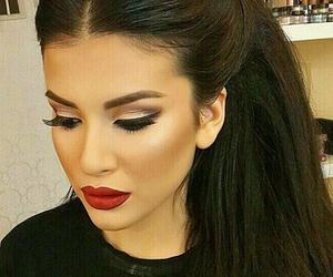 face, hair, and mascara image