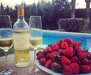 luxury, strawberry, and pool image