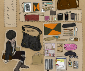 art, japanese, and bag image